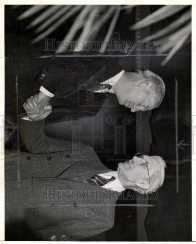 1940 Press Photo Mayor Edward Jeffries Detroit Rally - Historic Images