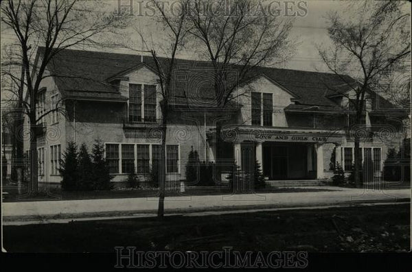 1929 Press Photo Boys and Girls Club house Michigan - Historic Images
