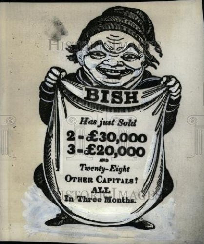 1932 Press Photo English Lottery Advertising Poster - Historic Images