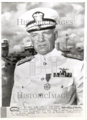 1945 Press Photo Vice Adm John H Towers succeeds McCain - Historic Images