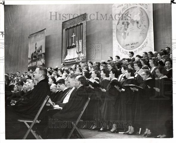 1952 Press Photo Methodist church mission service - Historic Images