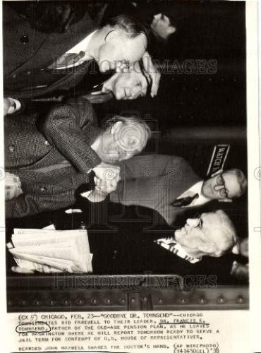 1938 Press Photo francise townsend washington contempt - Historic Images