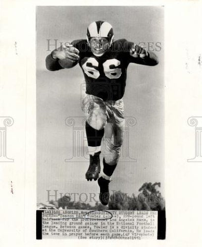 1951 Press Photo Dan Towler Deacon National Football - Historic Images