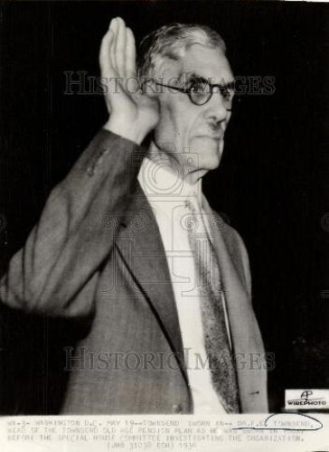 1936 Press Photo Dr FE Townsend Old Age Pension Plan - Historic Images