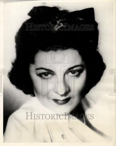 1943 Press Photo Jennie Tourel  operatic mezzo-soprano - Historic Images