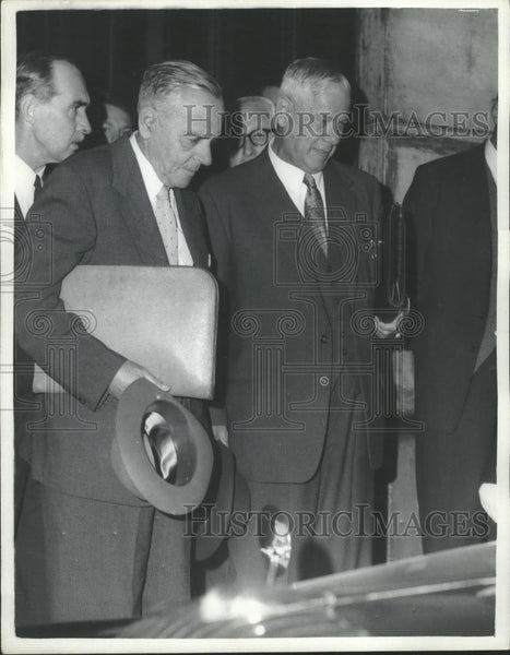 1961 Press Photo Dr. Verwoerd, The South African Premier, Leaves Lancaster House - Historic Images