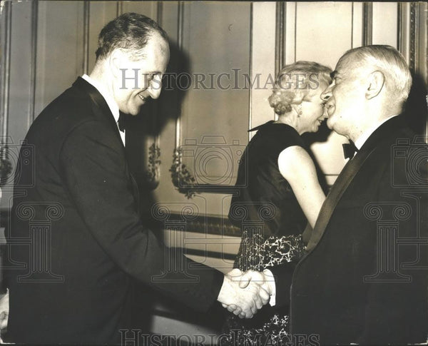 1969 Press Photo Northern Ireland Premier Capt. Terence O'Neil With Foreign Sec. - Historic Images