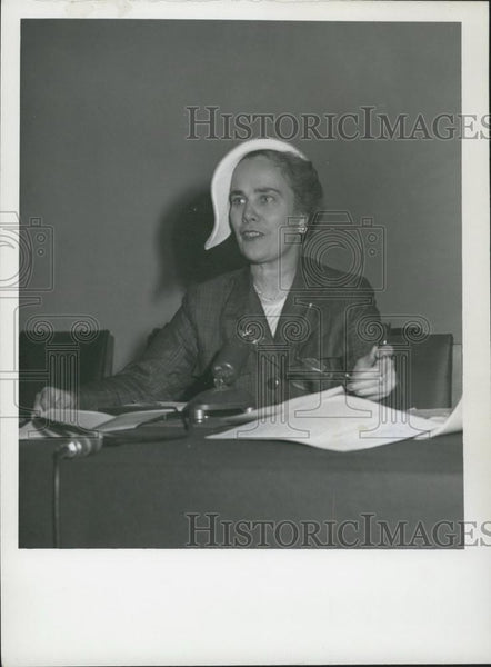 1953 Press Photo . Oswald B. Lord,US Rep on Human Rights Commission - Historic Images