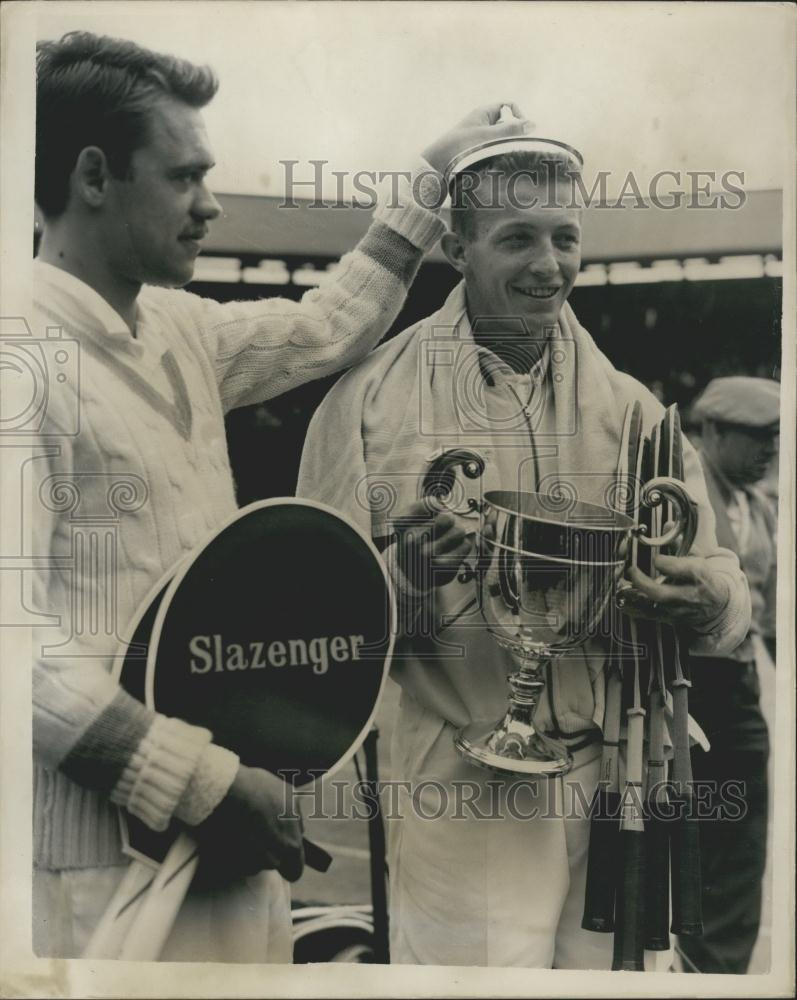 1955 Press Tony Trabert USA wins at Wimbledon