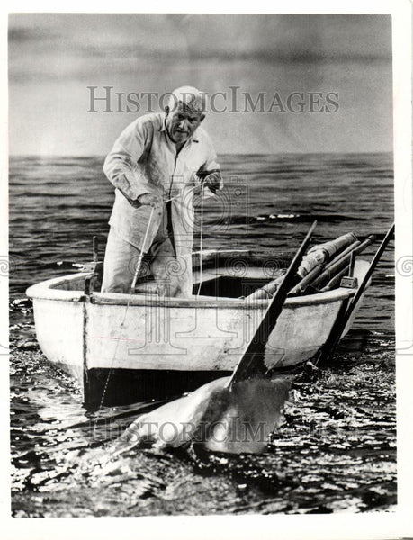 1973 Press Photo Old Man Sea Hemingway Spence Tracy CBS - Historic Images
