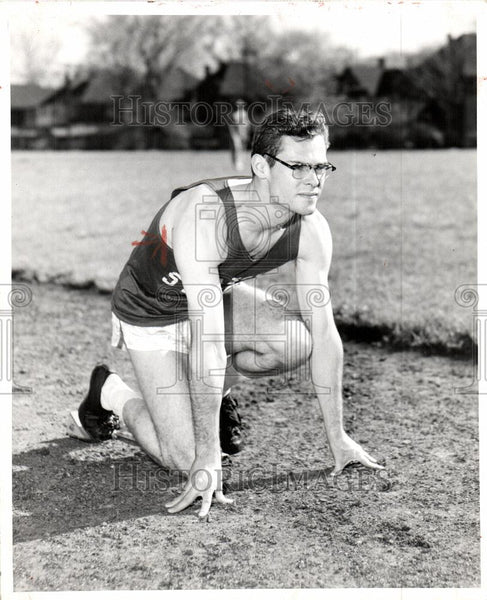 1957 Press Photo John Telford Athletic - Historic Images
