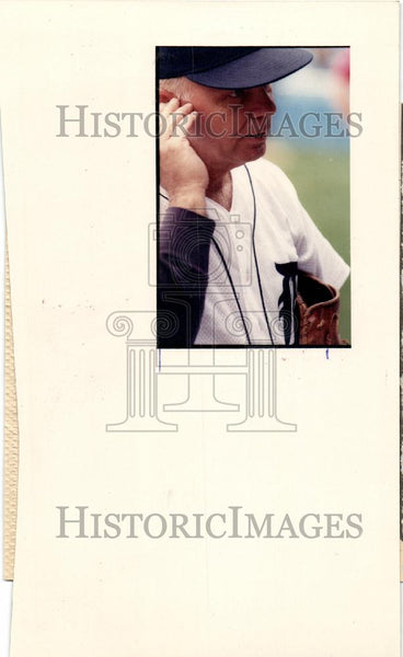 1989 Press Photo Dick Tracewaski Tiger Stadium Sparky - Historic Images