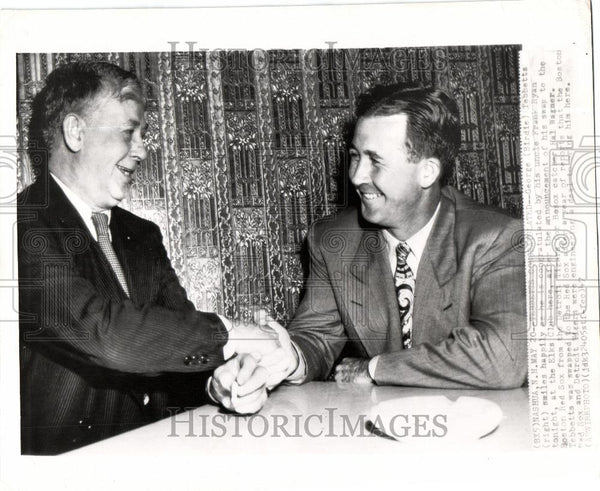 1947 Press Photo George Tebbetts Frank Ryan - Historic Images