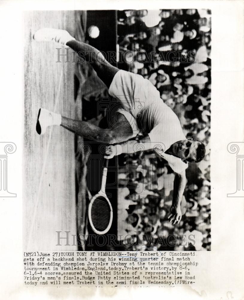 1955 Press Tony Trabert Wimbledon tennis champion