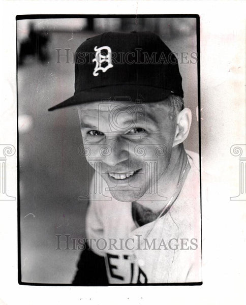 1968 Press Photo Dick Tracewski Baseball Player - Historic Images