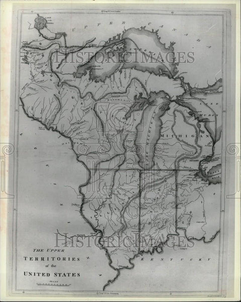 Press Photo Michigan Map - Historic Images