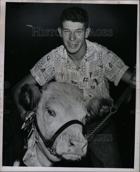 Press Photo Lawrence Follett Michigan State Fair - Historic Images