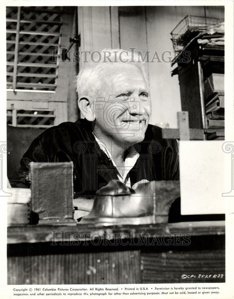 1961 Press Photo Spencer Tracy actor Devil Nine O'Clock - Historic Images