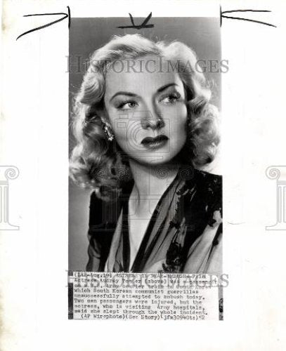 1952 Press Photo Audrey Totter South Korea US Army - Historic Images