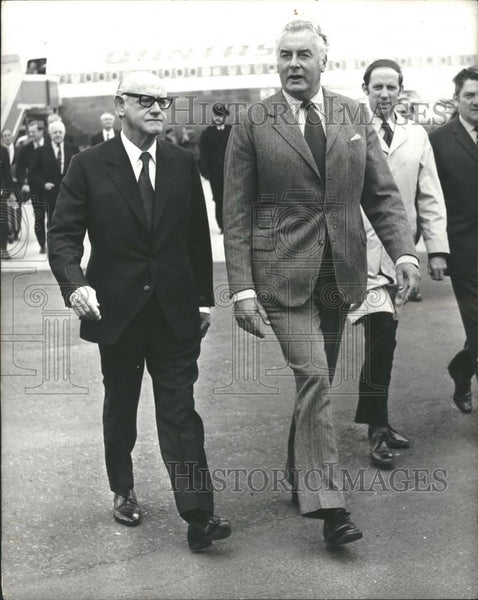 1973 Press Photo Australia Prime Minister Gough Whitlam, JI Armstrong, London - Historic Images