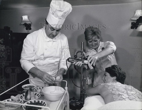 Press Photo Culinary Spa Treatment - Historic Images