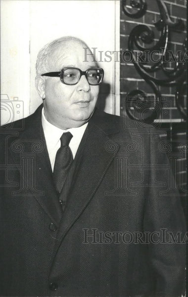 1973 Press Photo Dr. al-Zaydat ,special adviser to President Sadat of Egypt - Historic Images