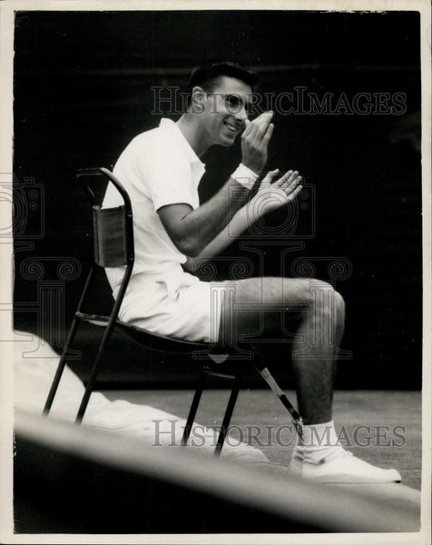 1959 Press Photo E. Buchholz 3rd Day of Wimbledon Tennis - Historic Images