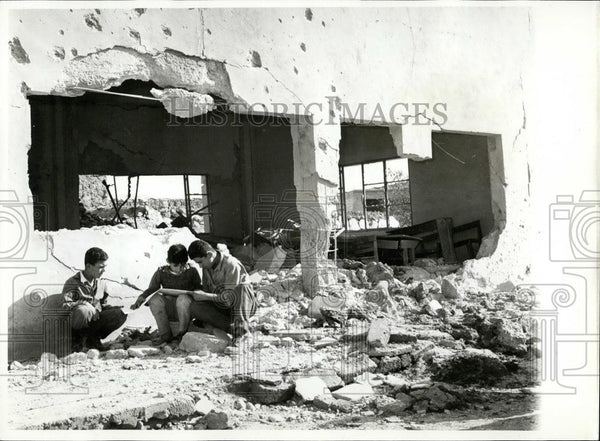 1968 Press Photo Israel Air Raid/Jordan - Historic Images