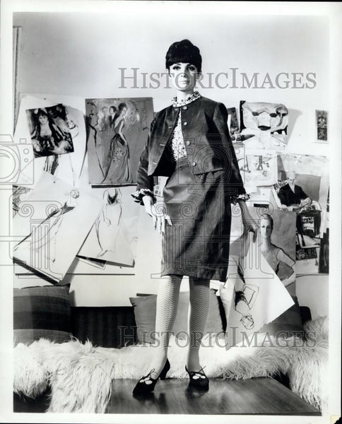 Press Photo Dress, Jacket By Cherberg, Shoes By Mademoisselle - Historic Images