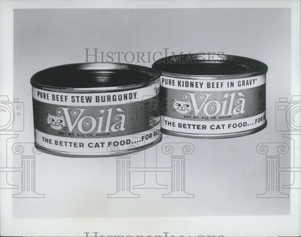 Press Photo Voila Canned Cat Food - Historic Images
