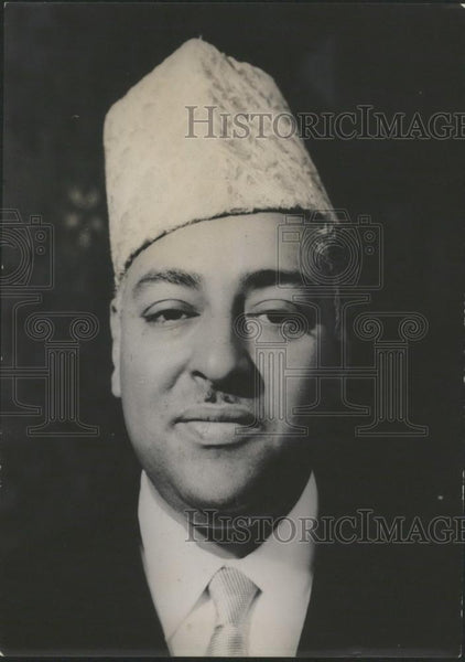 1956 Press Photo Moulay Hassan Ben Moulay El Mehadi,Morocco Amb to London - Historic Images