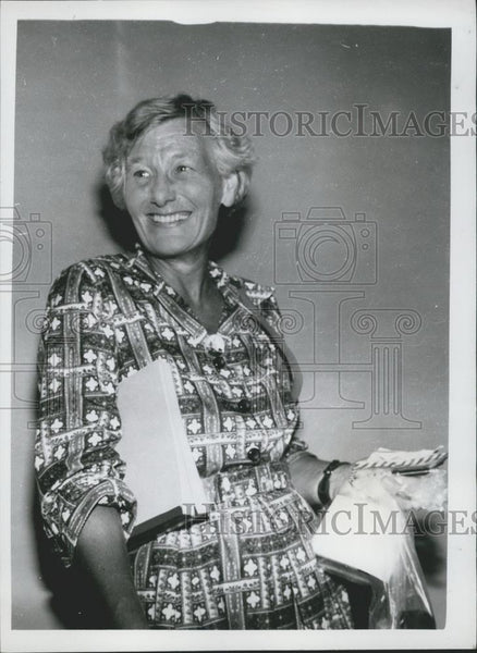 Press Photo Mrs. Dorothea Gravina,British women in the expedition - Historic Images