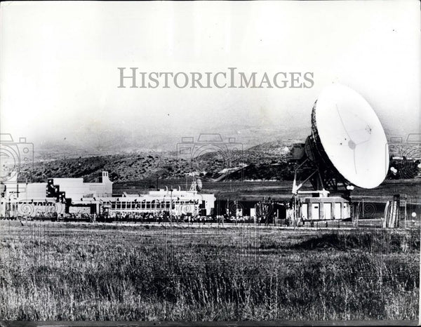 1972 Press Photo iew of the new Earth Satellite Communications Station in Israel - Historic Images