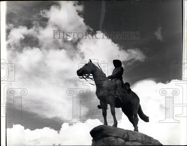 "Press Photo ""Rider of S.W.A."" at Windhoek South West Africa War Memorial - Historic Images"