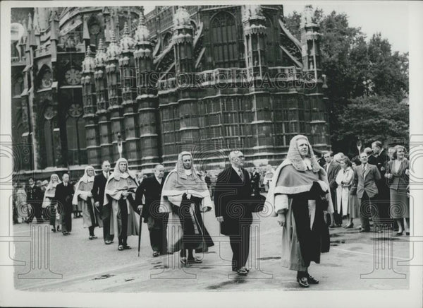 Press Photo Michaelmas law term service at Westminster abbey - Historic Images
