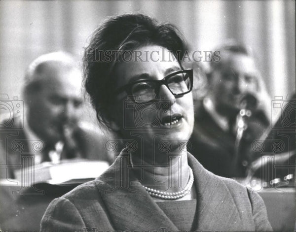 1965 Press Photo Miss M.Vietch,TUC congress at Brighton - Historic Images