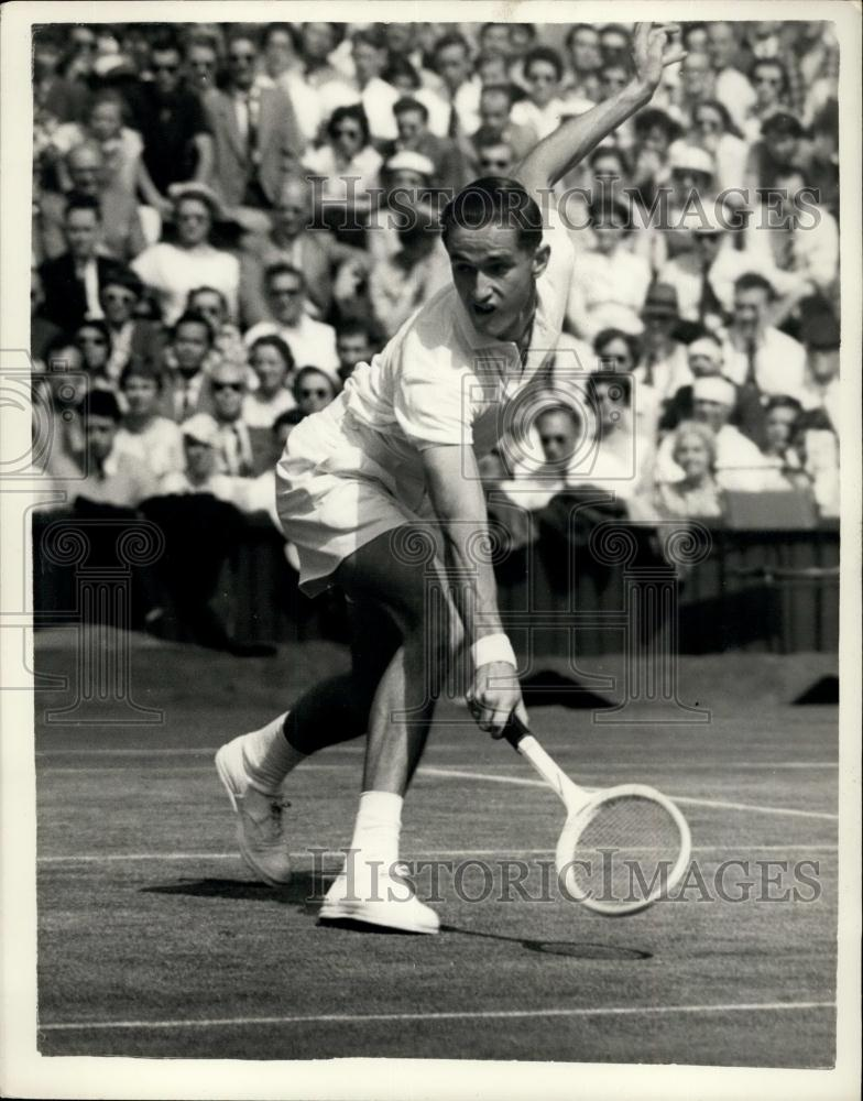 1956 Press Photo Wimbledon Tennis Championships. M.J. Anderson  Versus N. Pie - Historic Images