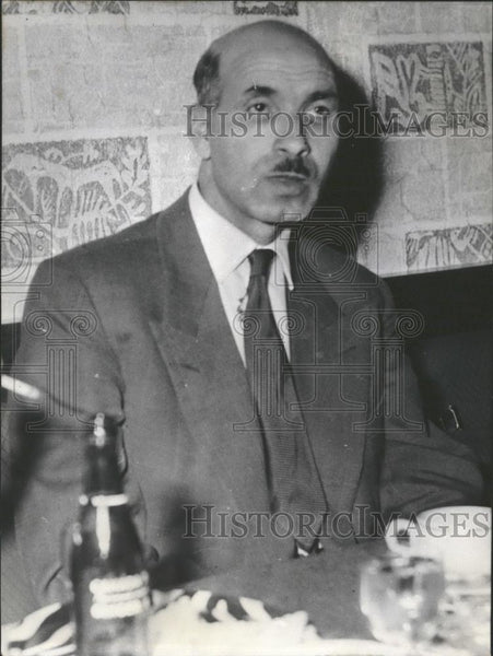 "1956 Press Photo ,Moulay Merbah of ""Mouvement National Algerian - Historic Images"