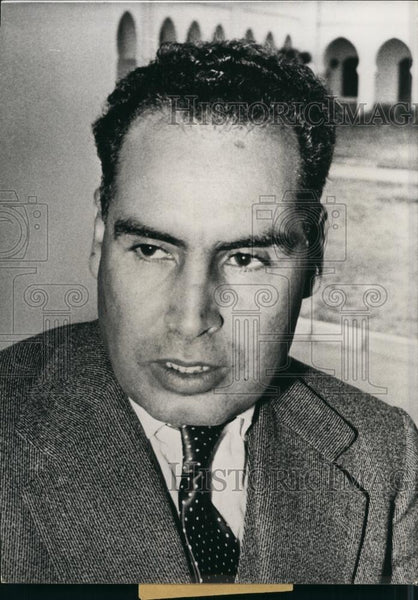 Press Photo M.Moulay Abdallah Ibrahim, Former Secy Charged Form New Maroccan Gov - Historic Images