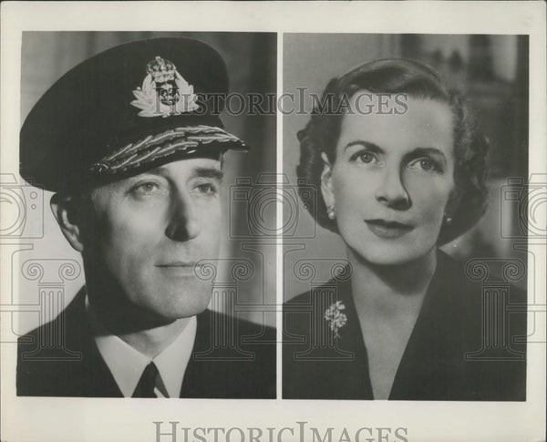 1955 Press Photo Admiral Earl Mountbatten of Burma, Britain's First Sea Lord - Historic Images