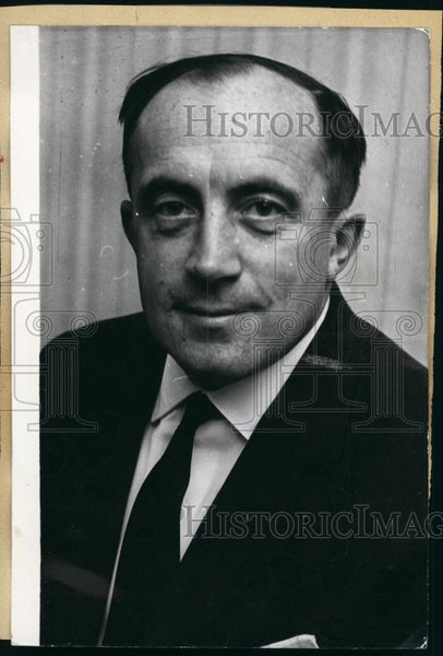 1962 Press Photo German Politician Werner Dollinger. - Historic Images