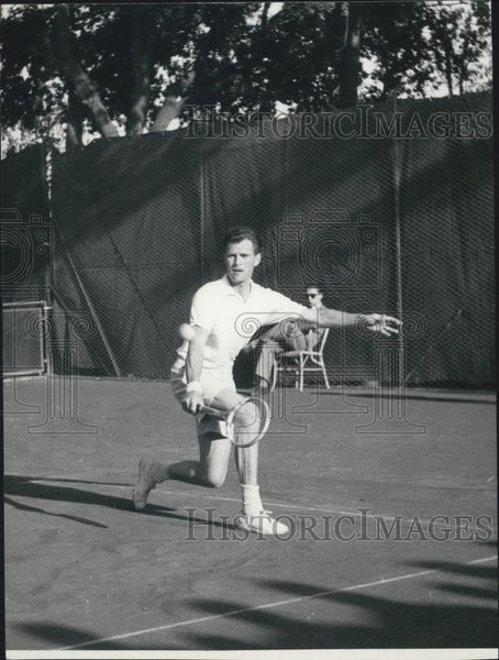 1953 Press Photo Budge Patty in the French Open - Historic Images