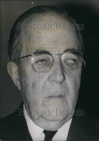 1971 Press Photo Mr Pasteur Westphal, French politician - Historic Images