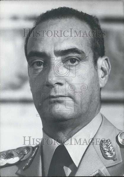1950 Press Photo General Luis Rangel Burgouin of Venezuela - Historic Images
