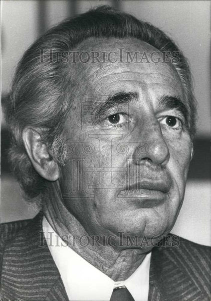 1978 Press Photo Mr Shimon Peres, leader of opposition party in Israel - Historic Images