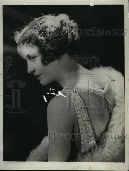 1930 Press Photo Jackie Saunders Actress - RSL50619 - Historic Images