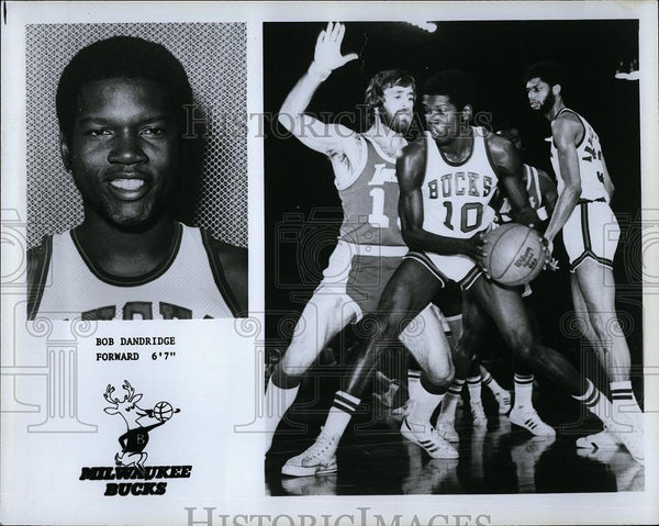 Press Photo Milwaukee Bucks forward, Bob Dandridge - RSL75049 - Historic Images