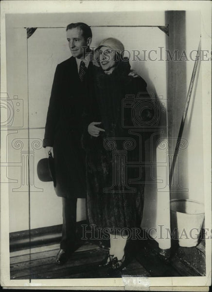 1930 Press Photo Opera Singer Mme Amelita Galli-Curci w/ husband Homer Samuels - Historic Images
