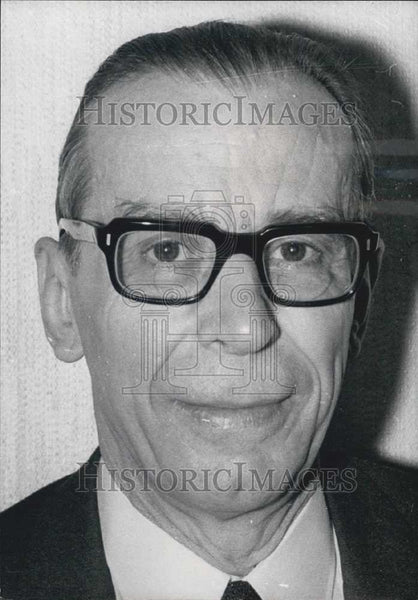 Press Photo Francois Goguel, a Member of the Constitutional Council - Historic Images