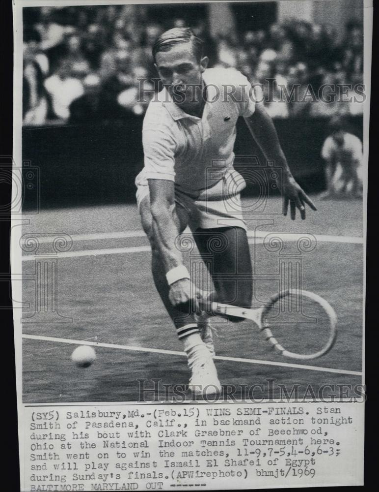 taille 40 7859a c2985 1969 Press Photo Stan Smith, Tennis Player, National Indoor Tennis  Tournament